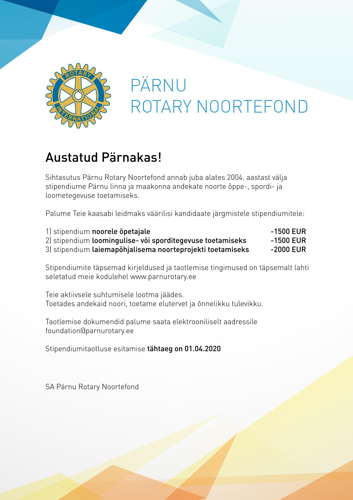 Rotary Stipendium